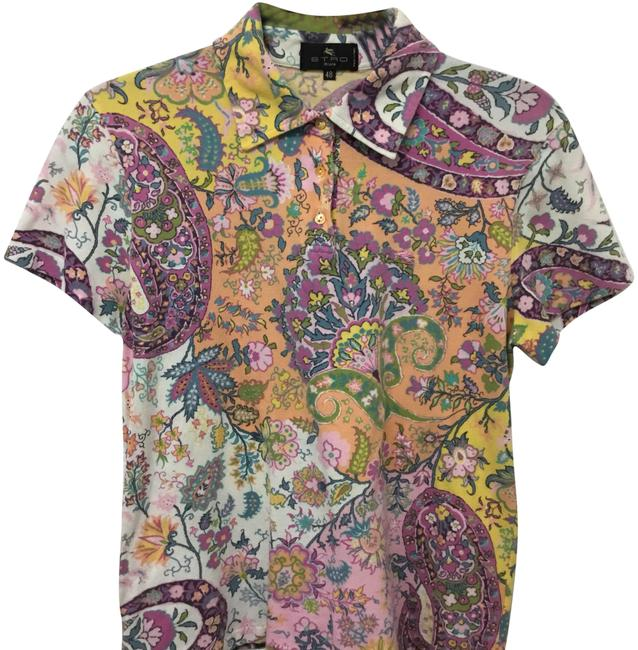 Preload https://img-static.tradesy.com/item/23297144/etro-pink-paisley-polo-button-down-top-size-4-s-0-1-650-650.jpg