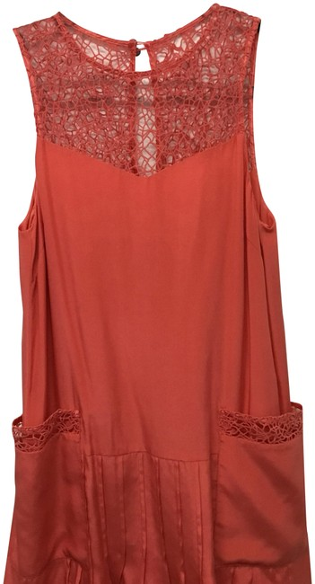 Preload https://img-static.tradesy.com/item/23297211/rag-and-bone-coral-sleeveless-with-crocheted-trim-short-casual-dress-size-2-xs-0-1-650-650.jpg