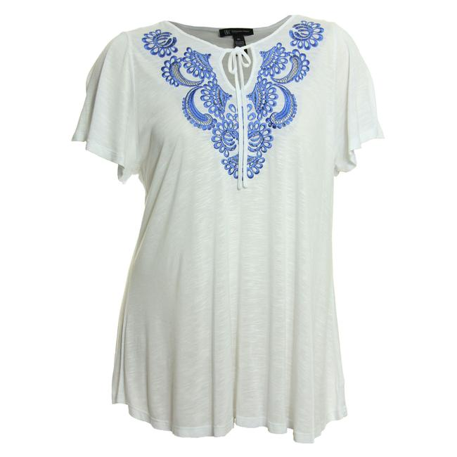 Preload https://img-static.tradesy.com/item/23297321/inc-international-concepts-multi-color-2x-white-embroidered-rhinestone-embellished-knit-blouse-size-0-0-650-650.jpg
