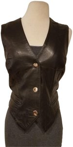Michael Hoban Leather Sleeveless Vest
