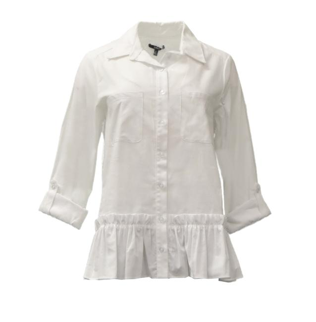 DREW Button Down Shirt White