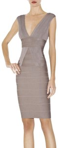Hervé Leger Bandage Cocktail Designer Plunge Dress