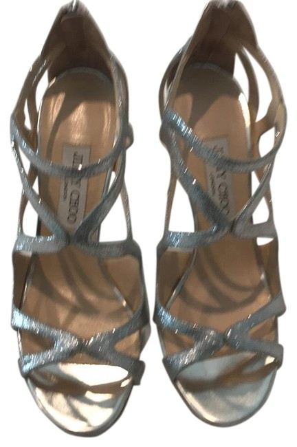 Item - Silver with Glitter Formal Shoes Size US 8 Narrow (Aa, N)
