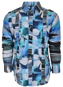 Robert Graham Shirt Men's Shirt Button Down Shirt Arabian Sea