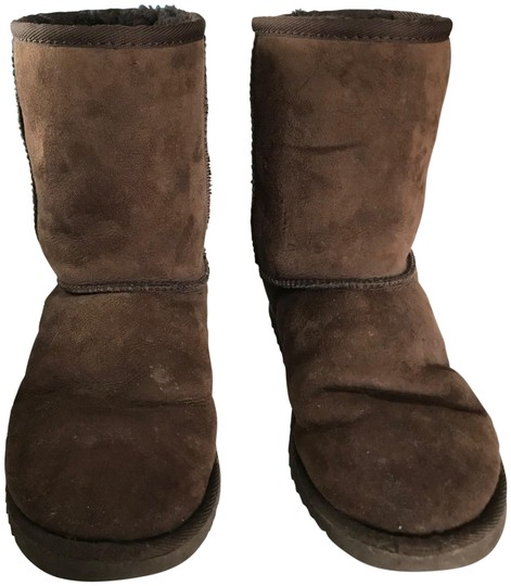 Preload https://img-static.tradesy.com/item/23297524/ugg-australia-chocolate-classic-short-suede-bootsbooties-size-us-6-regular-m-b-0-1-540-540.jpg