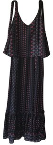 black, rose, red, turquoise, white Maxi Dress by NY Collection