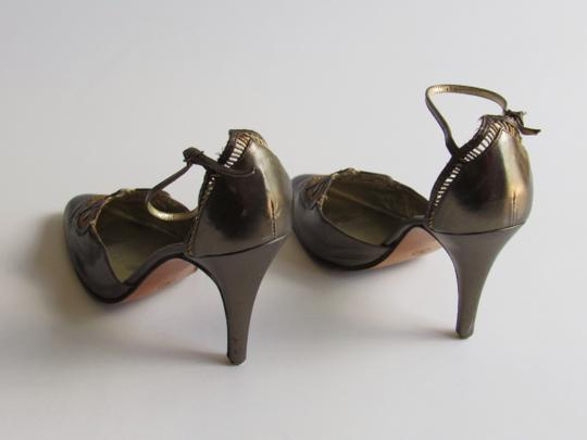 Rene Caovilla Heels Bronze & Gold Pumps