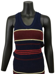 Isabel Marant Knit Sweater Red Top Navy