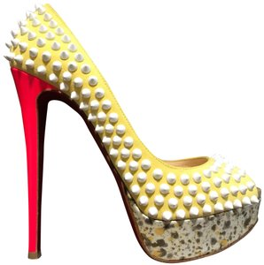 Christian Louboutin yellow/pink/white and multicolor Platforms