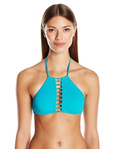 Trina Turk Trina Turk Women's Gypsy Solids High Neck Bra Bikini Top, 4