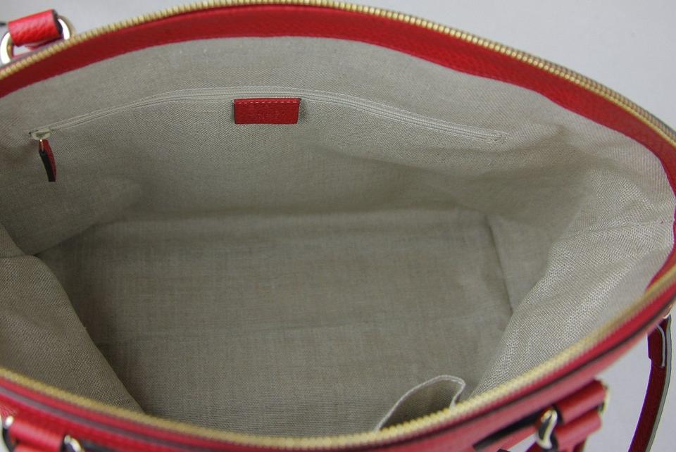 6b91f8d43b2f Gucci Leather Gg Charm Convertible Satchel in Red Image 10. 1234567891011