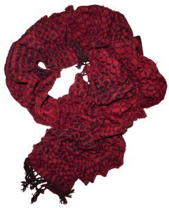 Collection Eighteen Ruffled Stretchy Slouchy Fringe Ends Raw Hem Scarf