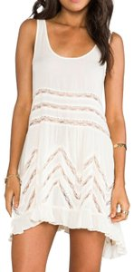 Free People Sleeveless Lace Trim Tunic