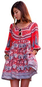 Free People short dress Paisley Cut-out Print Tunic on Tradesy