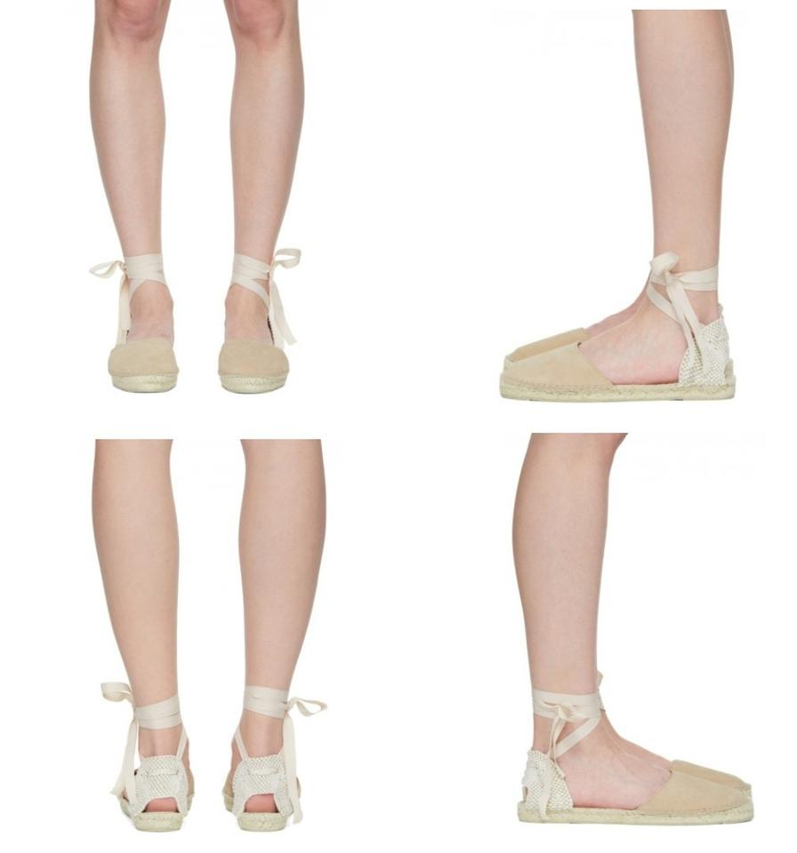 872887794 Manebi Beige Suede Valenciana Espadrille Tight-up Sandal 39/8 New ...