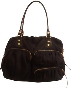 Mz Wallace Nylon Shoulder Strap Black Diaper Bag
