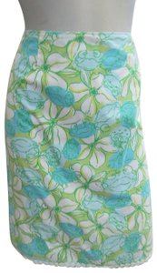 Lilly Pulitzer Floral Print Crab Skirt multicolor