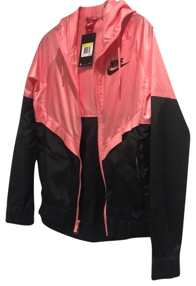 bf1eaba1a1 Nike Pink and Black Windbreaker Jacket Size 4 (S) - Tradesy