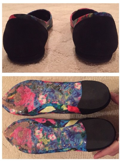Brian Atwood Black/Floral Flats