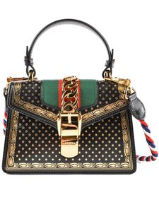 Gucci Sylvie Stars & Moon Sylvie Stars & Moon Top Handle Satchel in Black