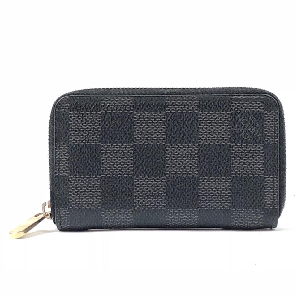 00fd6aa8 Louis Vuitton Damier Graphite Vertical Zip Card Holder Wallet 59% off retail
