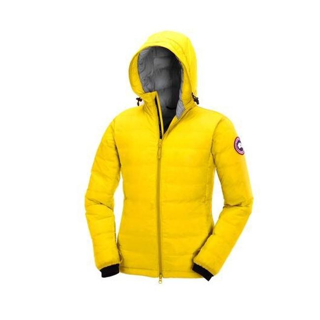 Item - Yellow Camp Hoody Down Jacket 5055l In Summer Light Coat Size 4 (S)