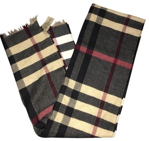 Burberry large check wool scarf