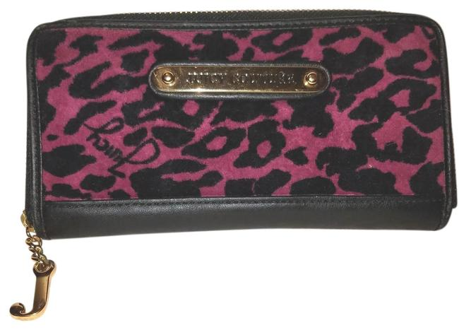 Item - Black & Pink Animal Print Wallet