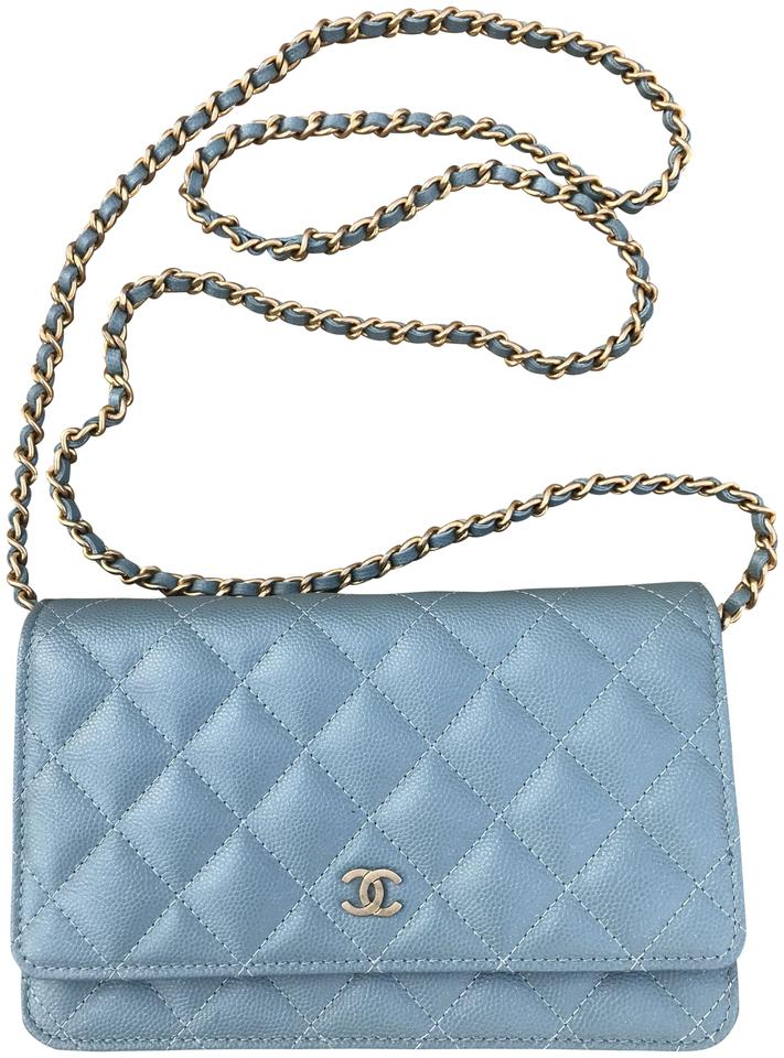 e822e29b3215 Chanel Wallet on Chain 18c Blue Leather Cross Body Bag - Tradesy
