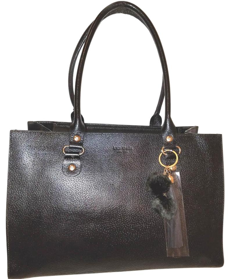 f67f3d90bbc4 Kate Spade Extra-large Hobo Handbag with A Zipper Closure Black Leather Tote