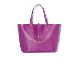 Vince Camuto Leather Suede Tote in BERRY