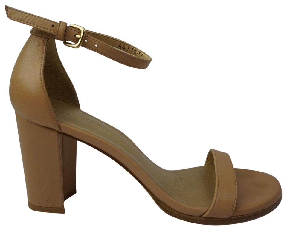 96d29d54189 Stuart Weitzman Tan Nearlynude Ankle Strap Bambina Nappa Leather Sandals