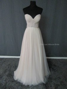 Martina Liana Stone Tulle Casey Bodice & Sawyer Skirt Feminine Wedding Dress Size 12 (L)