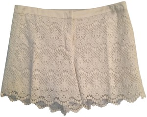 Joe Fresh Lace Scalloped Dress Shorts Cream