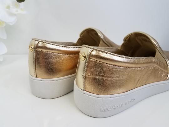 MICHAEL Michael Kors Perforated Leather Gold Flats Image 2
