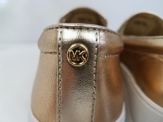 MICHAEL Michael Kors Perforated Leather Gold Flats Image 4