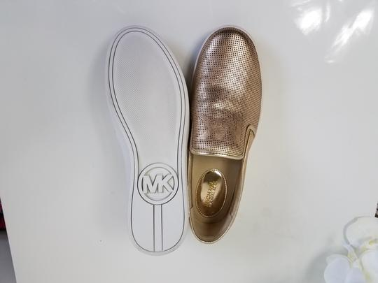 MICHAEL Michael Kors Perforated Leather Gold Flats Image 6