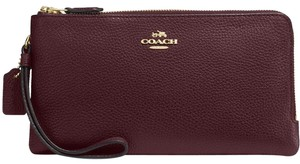 Coach COACH Double Zip Wallet in Polished Pebble Leather