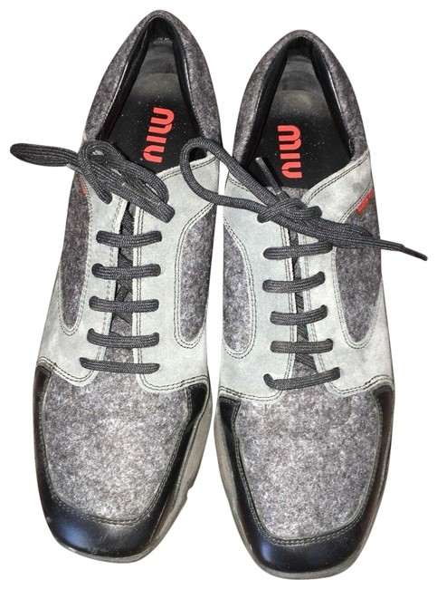 Item - Grey Womens Oxford Leather 8 Italy Sneakers Size EU 38.5 (Approx. US 8.5) Regular (M, B)