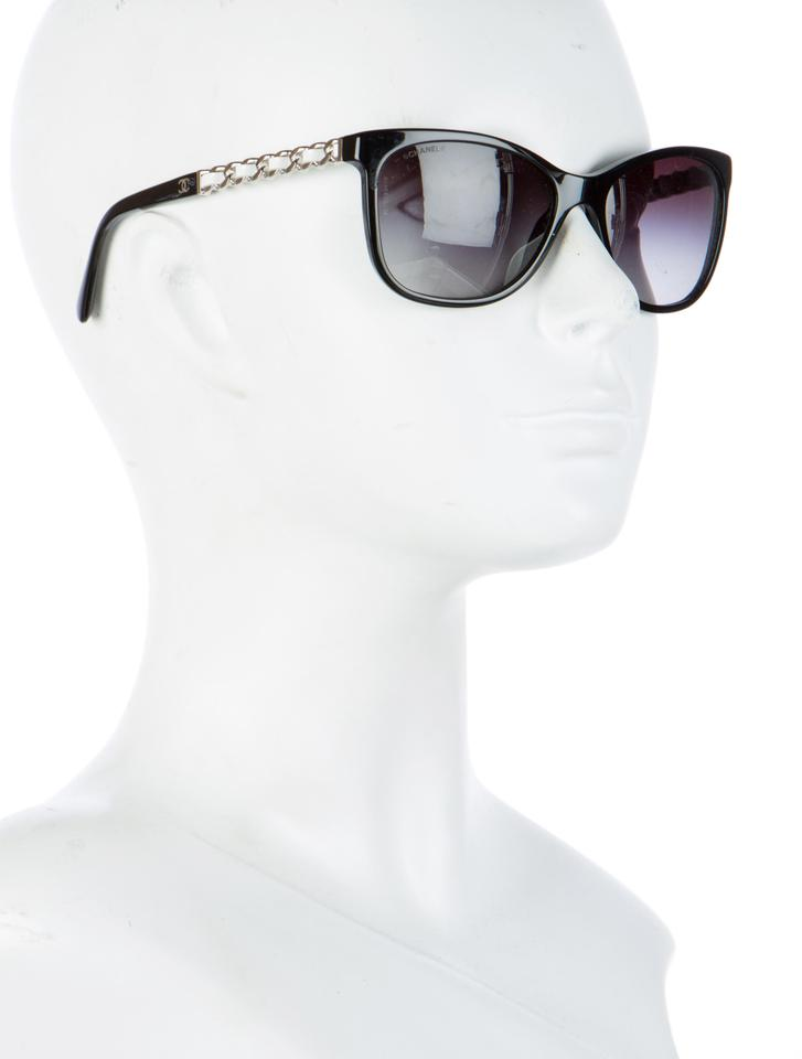 84c51a0a506d7 Chanel 5260 Q Cat Eye Cateye Chain Link Quilted Leather CC Logo Wayfarer  Image 11. 123456789101112