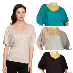 Ambiance Apparel Top Jade, Grey or Black. please confirm your selection prior to purchasing.