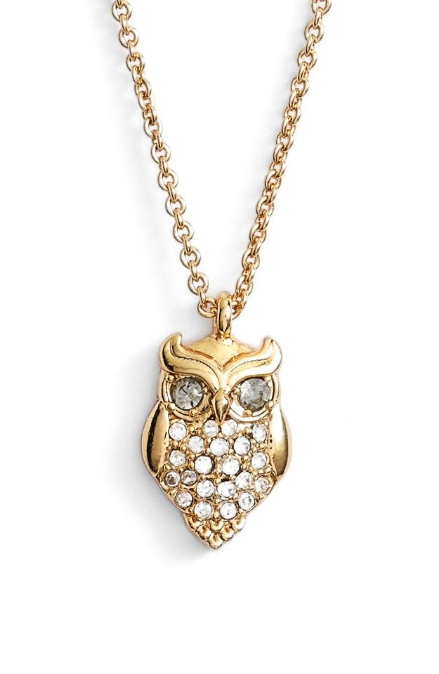 Kate spade gold new in the woods owl pendant 12k crystals necklace kate spade new kate spade in the woods owl pendant necklace 12k gold crystals aloadofball Gallery