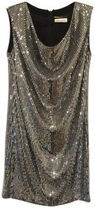 Saint Laurent Sequin Silk New Years Hedi Slimane Dress
