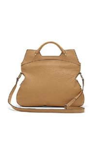 Vince Camuto Snake-embossed Leather Convertible Gold Hardware Tote in Oak