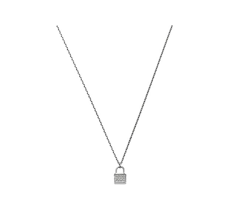 a04134d21f660 Michael Kors NWT Michael Kors Silver Tone Padlock Charm Necklace Image 0 ...