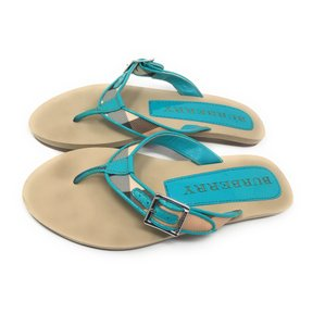 Burberry Turquoise Blue Sandals