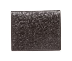 BVLGARI Bvlgari Black Leather Small Coin Pouch Wallet