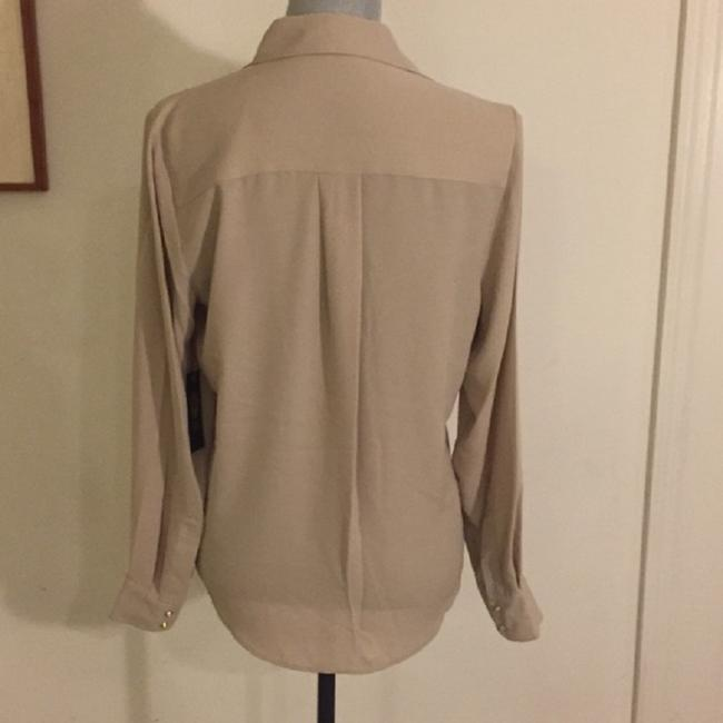 Vince Camuto Snaps Studded Studs Button Down Longsleeve Top Oyster Image 1