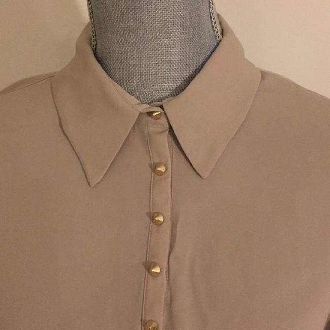 Vince Camuto Snaps Studded Studs Button Down Longsleeve Top Oyster Image 2