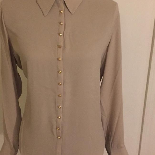 Vince Camuto Snaps Studded Studs Button Down Longsleeve Top Oyster Image 4